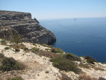 Maltese  landscape from  the southtern coast. Amazing panorama of the Maltesein coast Stock Photo