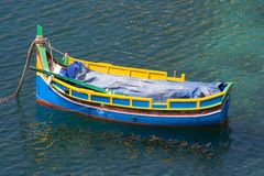 Maltese Luzzu Boat. One of the famous colorful Luzzu boats you can see in every maltese harbor Stock Image