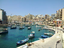 Maltese Luzzu fisherboat VIEW. Malta - Traditional colorful maltese Luzzu fisherboat Stock Photography