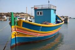 Maltese Luzzu Fishing Boat Stock Photography