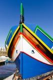 Maltese luzzu - Gozo, Malta. Traditional Maltese Boat in Marsalforn - Gozo, Malta Royalty Free Stock Image