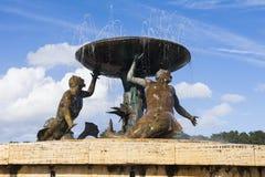 Maltese mermaid fountain Stock Photography
