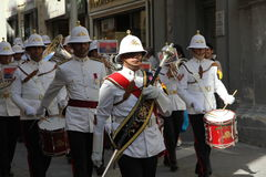 Maltese Military Marching Band. Official military band of Malta marching in a parade in Valletta Stock Photography