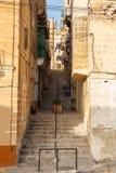 Maltese narrow street Royalty Free Stock Images