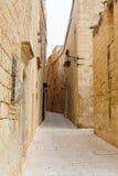 Maltese narrow street Mdina, Malta Stock Photography