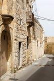 Maltese narrow street Mdina, Malta Royalty Free Stock Photo