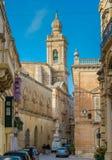 Maltese narrow street in Mdina Stock Image