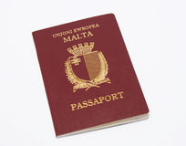 Maltese Passport. With coat of arms arms and Maltese Text