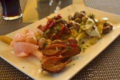 Maltese platter antipasti. In a Maltese restaurant Stock Photos