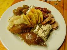 Maltese platter. Maltese platter at a restaurant in Valletta Royalty Free Stock Photos