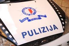 Malta police 'pulizija'. Maltese police car marking 'Pulizija', Valetta, Malta March 2013 Stock Photography