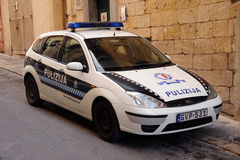 Malta police cruiser Stock Photography