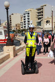 Malta police tourist patrol. Maltese police Segway patrol, Sliema, Malta March 2013 Royalty Free Stock Photos
