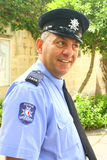 Maltese policeman on duty. A police officer on duty at a tourist attraction on Malta Royalty Free Stock Photography