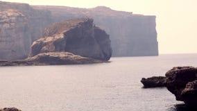 Maltese rock landscape stock footage