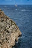 Maltese rocky coast. Mediterranean sea Stock Photo