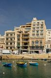 Maltese Sliema old city bay Stock Photography