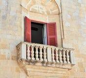 Maltese Stone Balcony. View of typical balcony of a house in Mdina, Malta Royalty Free Stock Photo