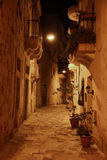 Maltese street at night Royalty Free Stock Image