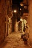 Maltese street at night Royalty Free Stock Image