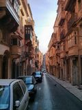 Maltese Streets. From Valletta, Malta Stock Photo