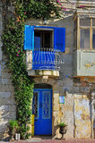 Maltese traditional house. In Valletta Royalty Free Stock Photography
