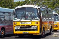Maltese vintage bus. Old Maltese bus, main bus terminus at City Gate Square - Valetta, Malta Stock Images