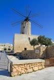 maltese windmill Royaltyfria Bilder