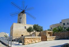 Maltese windmill Royalty Free Stock Photography