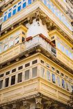 Maltese wooden balconies in Valletta, Malta. Traditional maltese balconies in Valletta Old Town, Malta Royalty Free Stock Photo