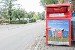 Malteser慈善汇集容器 免版税库存图片