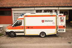 Malteser ambulance Royalty Free Stock Photos