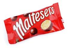 Maltesers milk chocolate candies Stock Images
