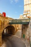 Maltesische Architektur in Valletta, Malta Lizenzfreie Stockfotos