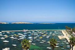 Maltesische Küstenlinie stockfotografie