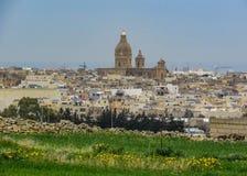 Maltesische Landschaftslandschaft auf dem Süden von Malta, Mittelmeer stockfotos