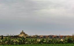 Maltesische Landschaftslandschaft auf dem Süden von Malta, Mittelmeer stockbild
