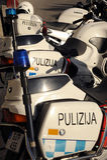 Malta-Polizeifahrräder Stockbilder