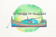 Maltesisches Boot Lizenzfreie Stockfotos