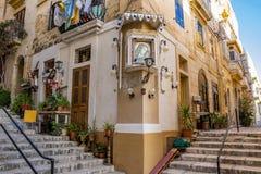 Maltesisk streetscape royaltyfri foto
