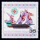 Maltesiskt århundrade för galär XVII serie historisk skepp` för `, circa 1980 Arkivbilder