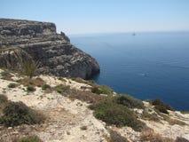 Maltesiskt landskap från den southtern kusten Arkivfoto