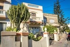 Maltesse hus i Budgibba, Malta Fotografering för Bildbyråer