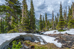 Malting snow in the rockies Royalty Free Stock Photography
