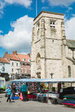 Malton Market by the Chruch Royalty Free Stock Image