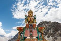 Maltreya Buddha. Vast Maitreya Buddha at Diskit in Ladakh Royalty Free Stock Photo