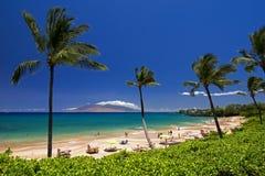 Maluaka海滩,南毛伊,夏威夷,美国 免版税库存照片