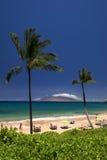 Maluaka Beach, south Maui, Hawaii, USA. Maluaka Beach on the south shores of Maui, Hawaii, USA Stock Photos
