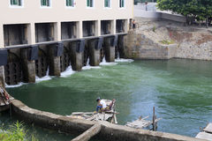 Maluanwan-Schleuse des Entwässerungsgrabens Lizenzfreie Stockfotos