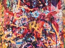 malująca ściana Obrazy Royalty Free